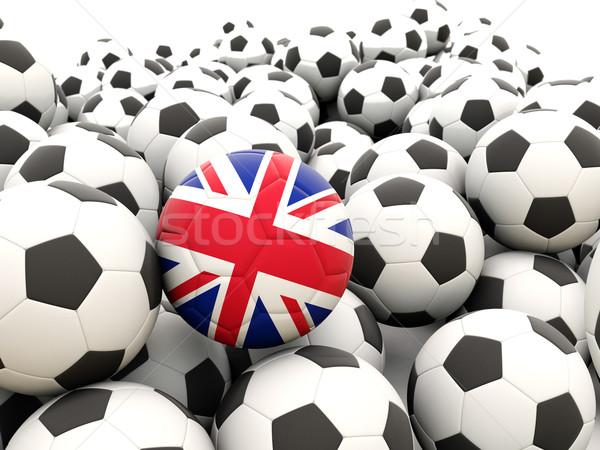 Football with flag of united kingdom Stock photo © MikhailMishchenko