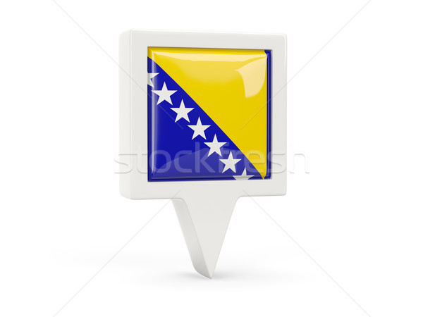 Cuadrados bandera icono Bosnia Herzegovina aislado blanco Foto stock © MikhailMishchenko