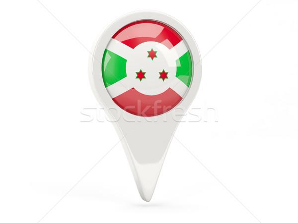 Bandeira ícone Burundi isolado branco mapa Foto stock © MikhailMishchenko