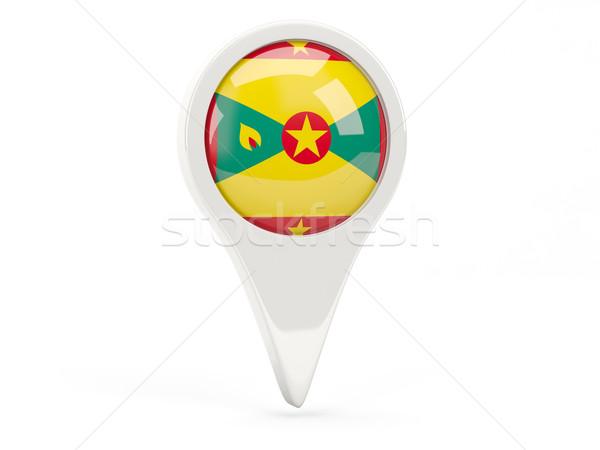 Zászló ikon Grenada izolált fehér térkép Stock fotó © MikhailMishchenko