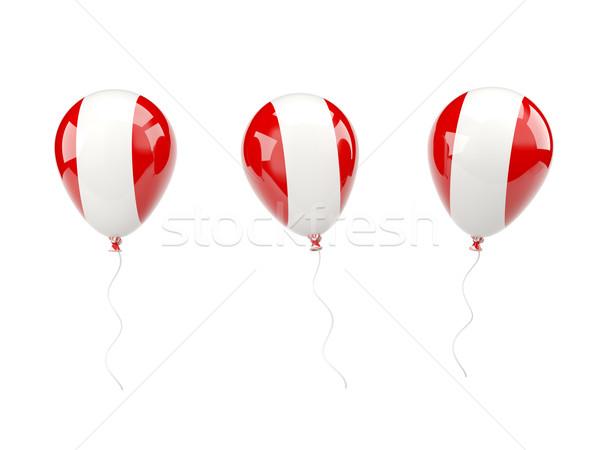 Air balloons with flag of peru Stock photo © MikhailMishchenko