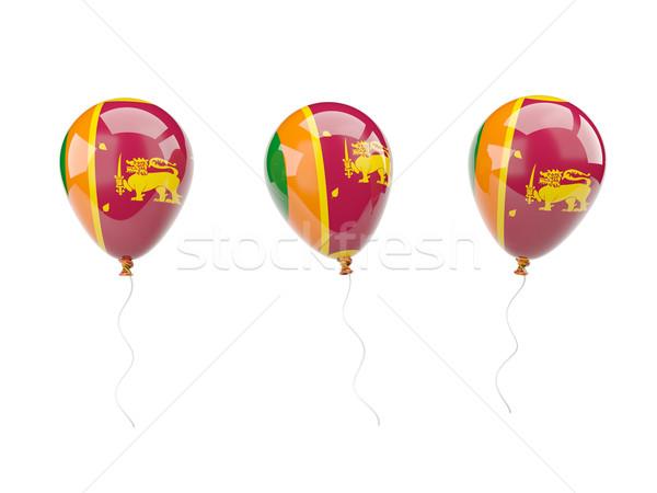 Air balloons with flag of sri lanka Stock photo © MikhailMishchenko