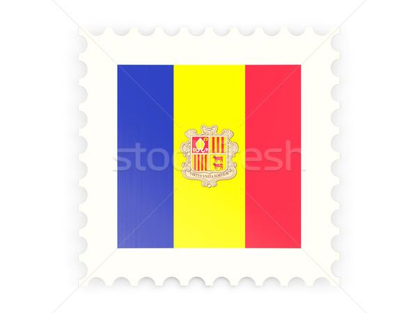 Postage stamp icon of andorra Stock photo © MikhailMishchenko