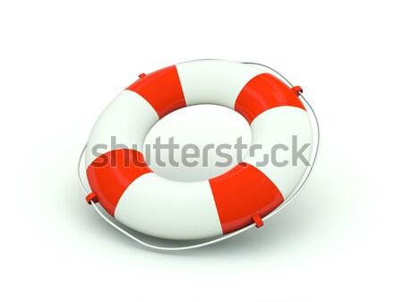Boa icona rosso nave pericolo Foto d'archivio © MikhailMishchenko