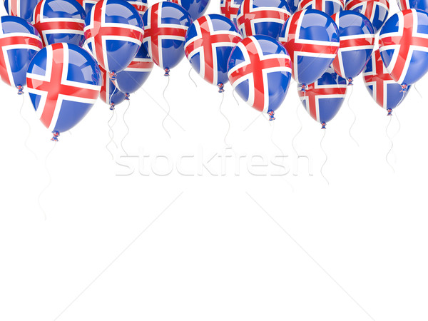 Balloon frame with flag of iceland Stock photo © MikhailMishchenko
