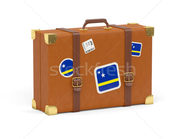 Suitcase with flag of curacao Stock photo © MikhailMishchenko