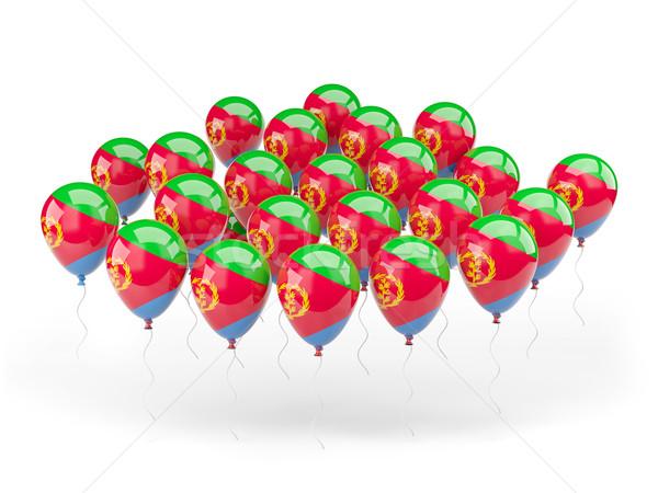 Balony banderą Erytrea odizolowany biały kraju Zdjęcia stock © MikhailMishchenko