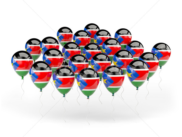 Ballonnen vlag zuiden Soedan geïsoleerd witte Stockfoto © MikhailMishchenko