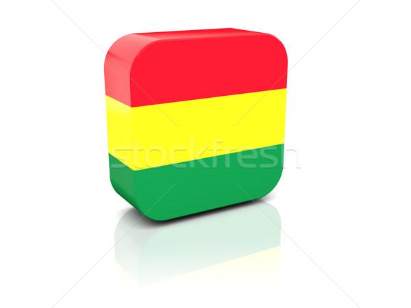 Tér ikon zászló Bolívia tükröződés fehér Stock fotó © MikhailMishchenko