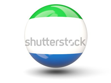 Round icon of flag of sierra leone Stock photo © MikhailMishchenko