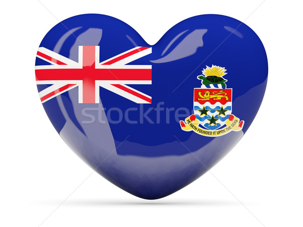 Heart shaped icon with flag of cayman islands Stock photo © MikhailMishchenko