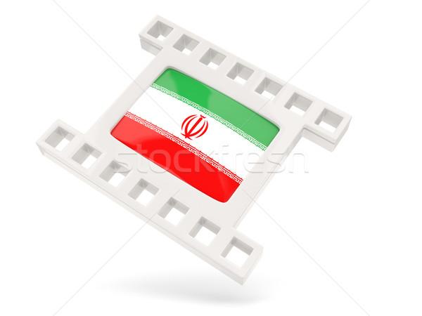 Film ikon bayrak İran yalıtılmış beyaz Stok fotoğraf © MikhailMishchenko