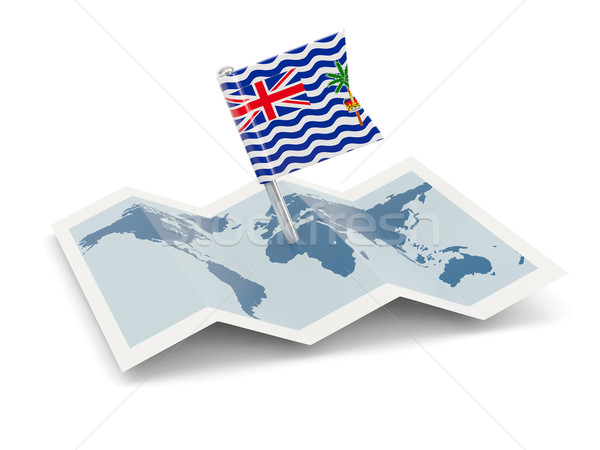 Map with flag of british indian ocean territory Stock photo © MikhailMishchenko