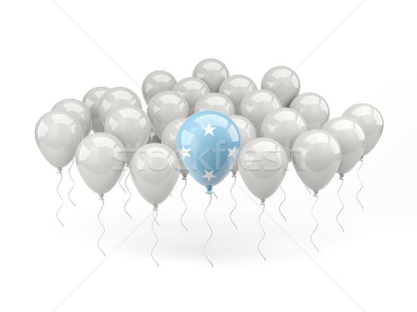 Air balloons with flag of micronesia Stock photo © MikhailMishchenko