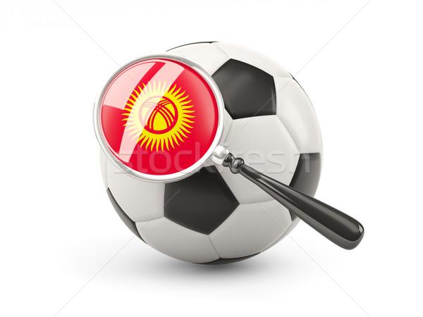 サッカー 拡大された フラグ キルギスタン 孤立した 白 ストックフォト © MikhailMishchenko