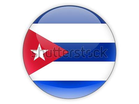 икона флаг Куба изолированный белый путешествия Сток-фото © MikhailMishchenko