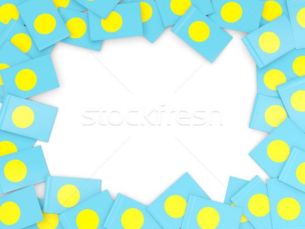 フレーム フラグ パラオ 孤立した 白 ストックフォト © MikhailMishchenko