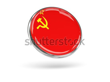 Round icon with flag of ussr Stock photo © MikhailMishchenko
