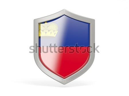 щит икона флаг Россия изолированный белый Сток-фото © MikhailMishchenko