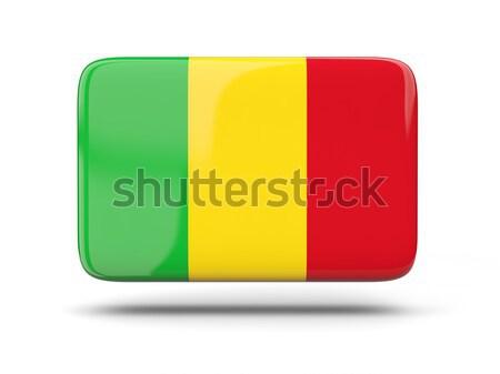Kare ikon bayrak Gine gölge imzalamak Stok fotoğraf © MikhailMishchenko