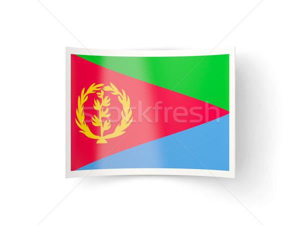 икона флаг Эритрея изолированный белый стране Сток-фото © MikhailMishchenko