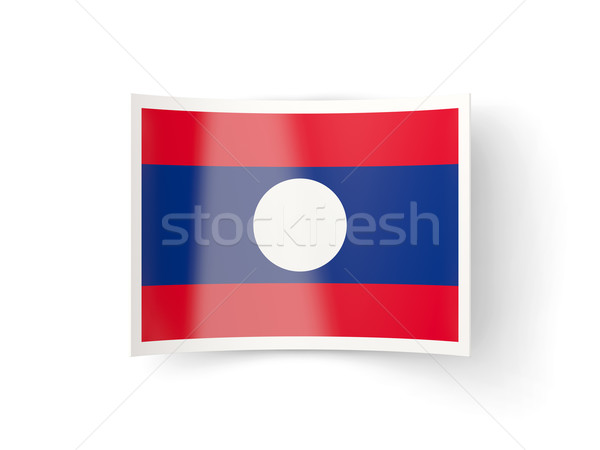 Icon vlag Laos geïsoleerd witte land Stockfoto © MikhailMishchenko
