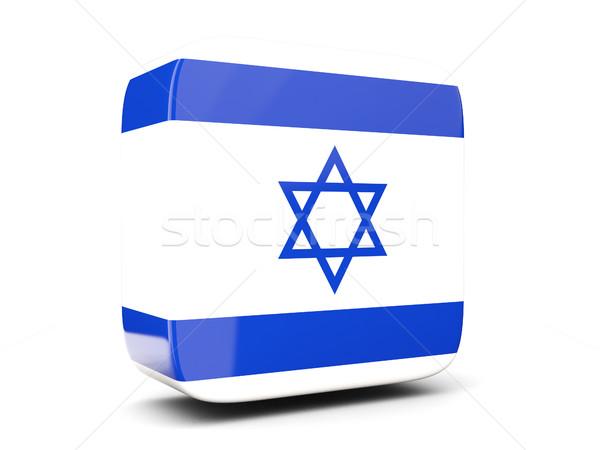 Tér ikon zászló Izrael 3d illusztráció izolált Stock fotó © MikhailMishchenko