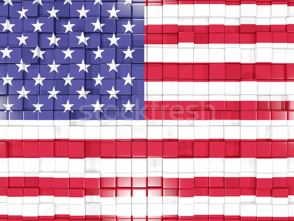 Background with square parts. Flag of united states of america.  Stock photo © MikhailMishchenko