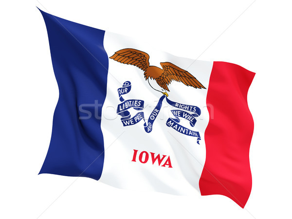 Flag of iowa, US state fluttering flag Stock photo © MikhailMishchenko