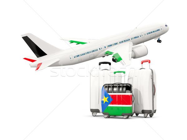 Csomagok zászló dél három szatyrok repülőgép Stock fotó © MikhailMishchenko