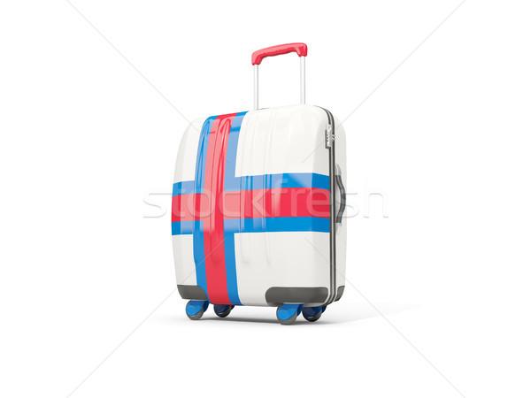Bagaj bayrak bavul yalıtılmış beyaz Stok fotoğraf © MikhailMishchenko