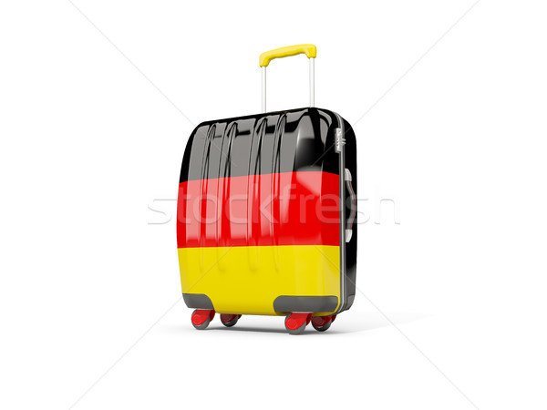 Gepäck Flagge Koffer isoliert weiß 3D-Darstellung Stock foto © MikhailMishchenko