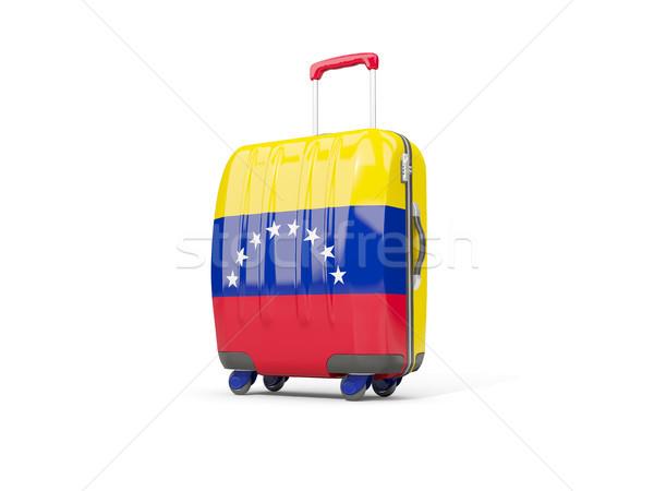 Luggage with flag of venezuela. Suitcase isolated on white Stock photo © MikhailMishchenko