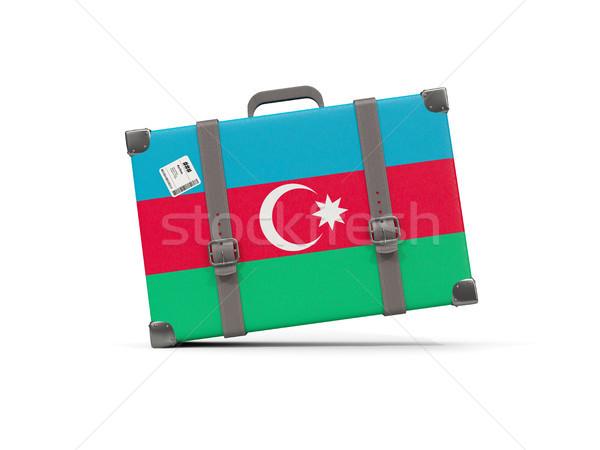 Equipaje bandera Azerbaiyán maleta aislado blanco Foto stock © MikhailMishchenko