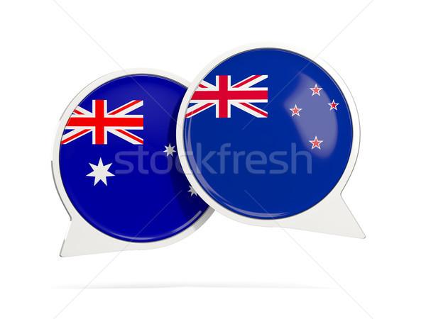 чате пузырьки Австралия Новая Зеландия изолированный белый Сток-фото © MikhailMishchenko