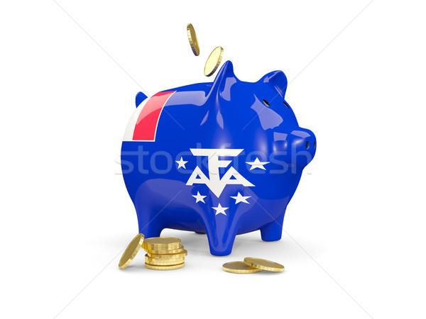 жира Piggy Bank французский южный деньги изолированный Сток-фото © MikhailMishchenko