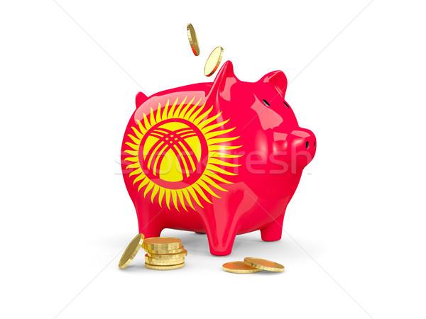 Vet spaarvarken Kirgizië geld geïsoleerd witte Stockfoto © MikhailMishchenko