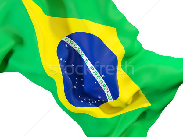 フラグ ブラジル クローズアップ 3次元の図 旅行 ストックフォト © MikhailMishchenko