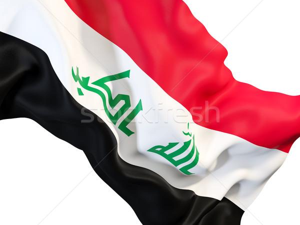 Waving flag of iraq Stock photo © MikhailMishchenko