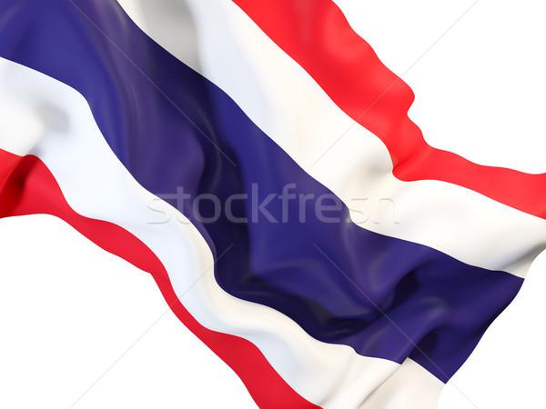 Banderą Tajlandia 3d ilustracji podróży Zdjęcia stock © MikhailMishchenko