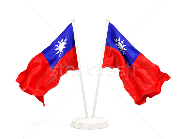 Two waving flags of taiwan Stock photo © MikhailMishchenko