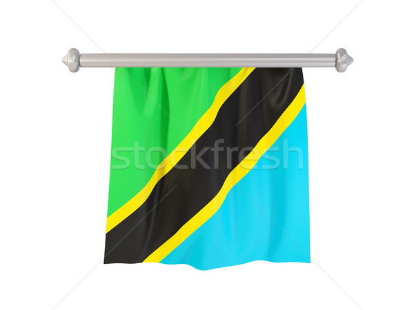 Bayrak Tanzanya yalıtılmış beyaz 3d illustration etiket Stok fotoğraf © MikhailMishchenko