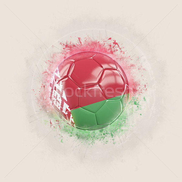 Grunge football with flag of belarus Stock photo © MikhailMishchenko