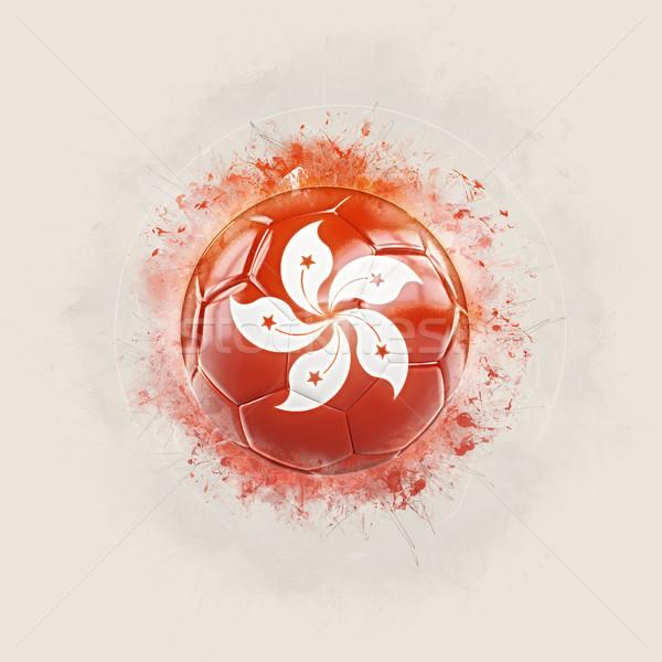 Grunge football pavillon Hong-Kong 3d illustration monde Photo stock © MikhailMishchenko
