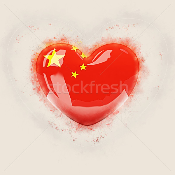 Heart with flag of china Stock photo © MikhailMishchenko
