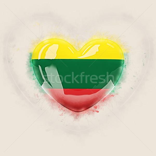 中心 フラグ リトアニア グランジ 3次元の図 国 ストックフォト © MikhailMishchenko