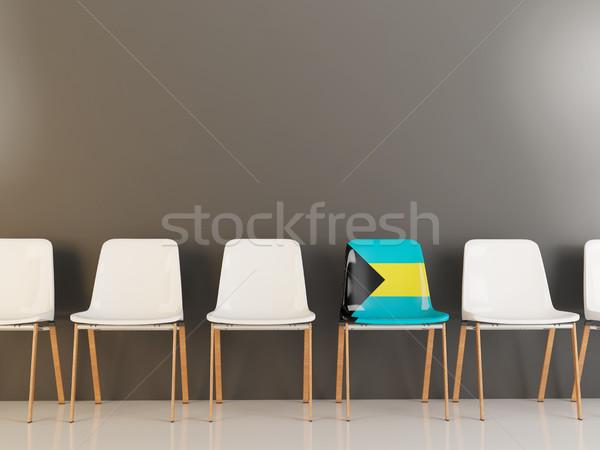 Chair with flag of bahamas Stock photo © MikhailMishchenko
