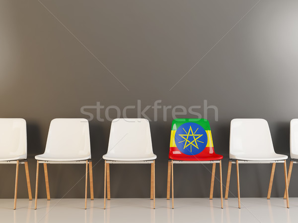 Chair with flag of ethiopia Stock photo © MikhailMishchenko