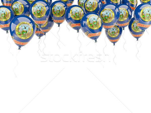 Stock fotó: Léggömbök · keret · zászló · Idaho · Egyesült · Államok · helyi