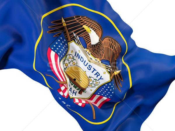 Utah bandera Estados Unidos local banderas Foto stock © MikhailMishchenko